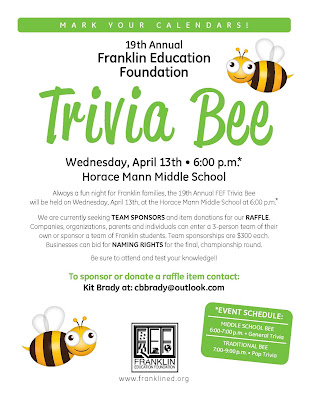 19th annual FEF Trivia Bee - Apr 13