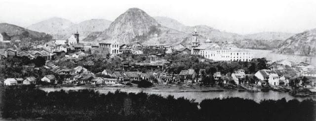 Vista de Vitória, 1867. Acervo Biblioteca Nacional.