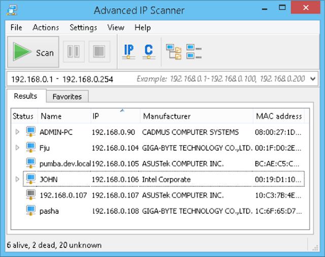 Download Advanced IP Scanner Free Full Setup for Windows | Advanced IP Scanner 2.4.2601