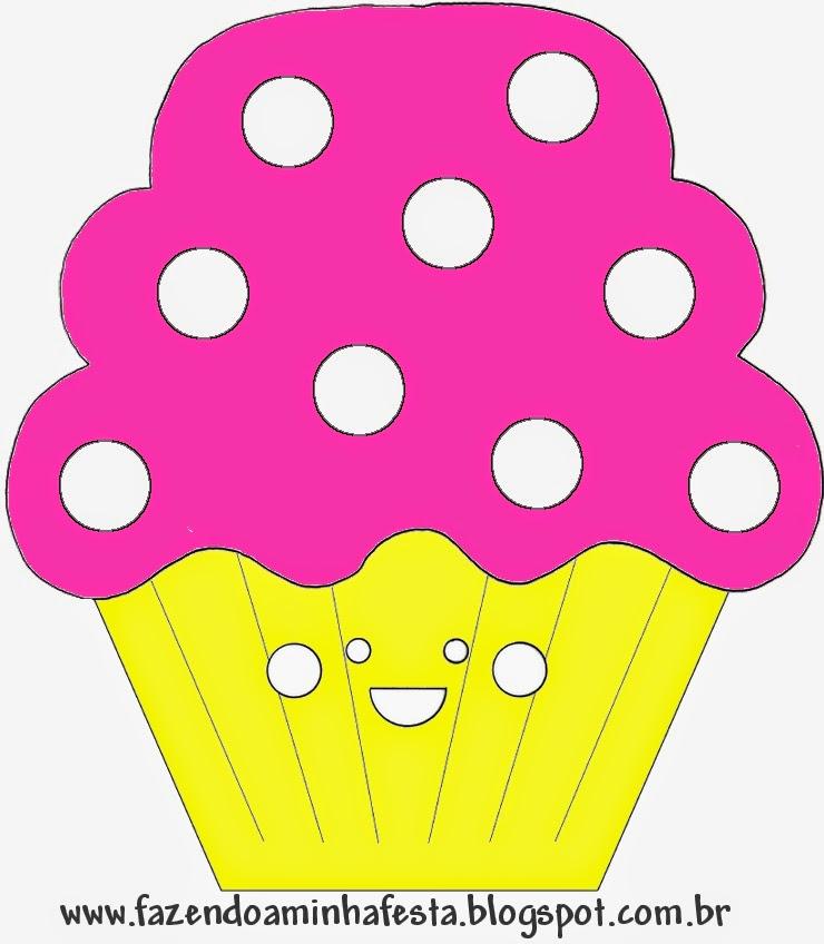 Tarjeta con forma de cupcake de Penelope Glamour Retro.