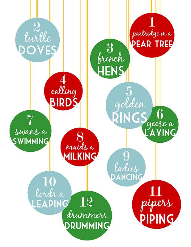 graphic regarding 12 Days of Christmas Printable identified as sugartotdesigns: 12 Times of Xmas Cost-free Printable