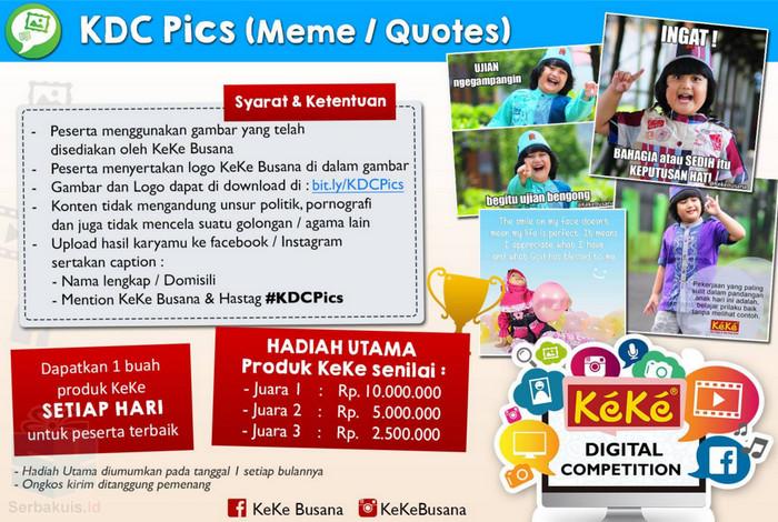 Kontes KDC Pics Berhadiah Produk Keke Busana Total 17,5 Juta