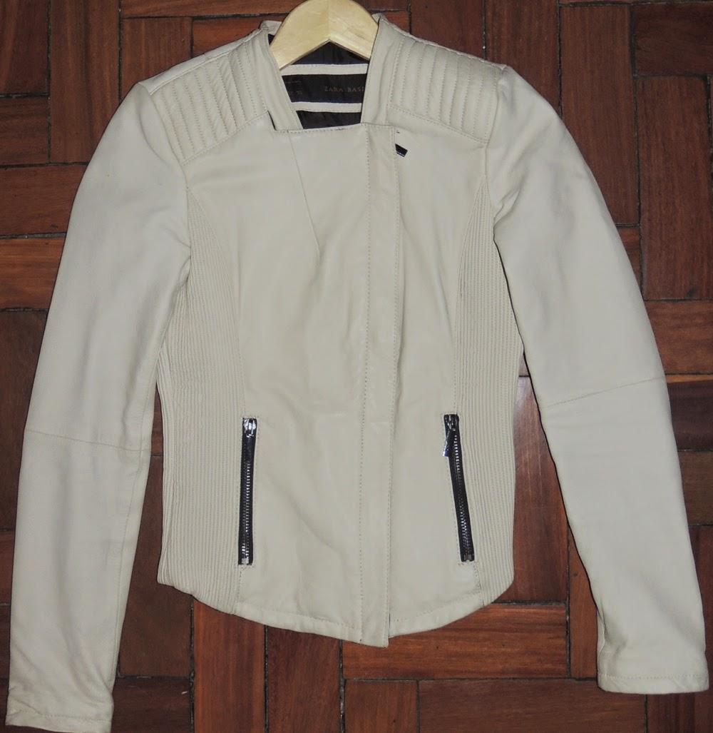 Mais uma jaqueta de couro TOP da Zara!! Couro macio e lindo! A cor da  jaqueta é nude com preta! Vai com tudo! Todo mundo tem que ter uma jaqueta  de couro ... 52c9079e38a