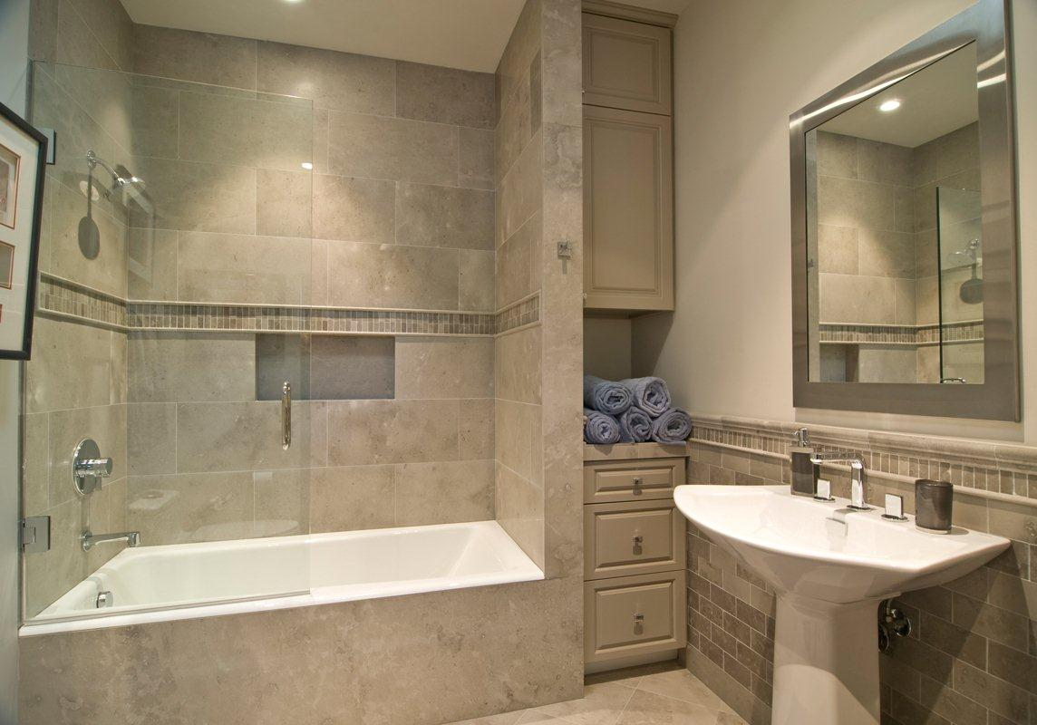 Good color combo with the tiles  wood note same on floor walls house ideas pinterest tubs bath and glass shower enclosures also