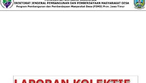 Download Contoh Laporan Kolektif Kabupaten Pendamping Desa Se Kabupaten