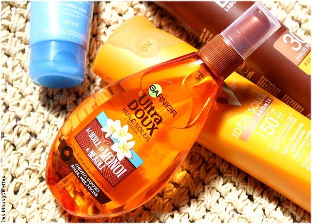 Huile Soleil, protection solaire cheveux, Ultra Doux de Garnier - Blog beauté