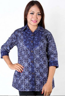 Model Baju Batik Kantor Modern 2017