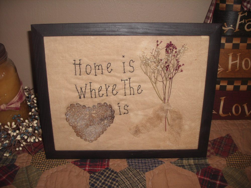 KKL Primitives Selling Blog: HOME IS WHERE THE HEART IS