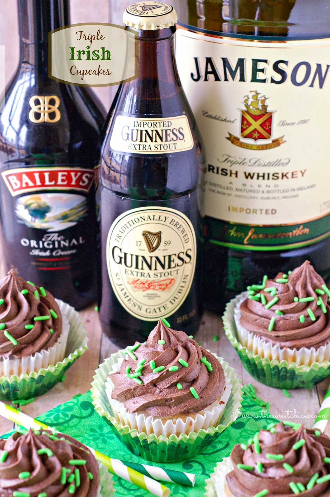 Irish Car Bomb Cupcakes by The Sweet Chick
