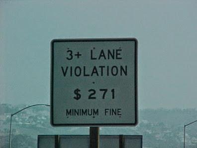 3+ Lane Violation $271