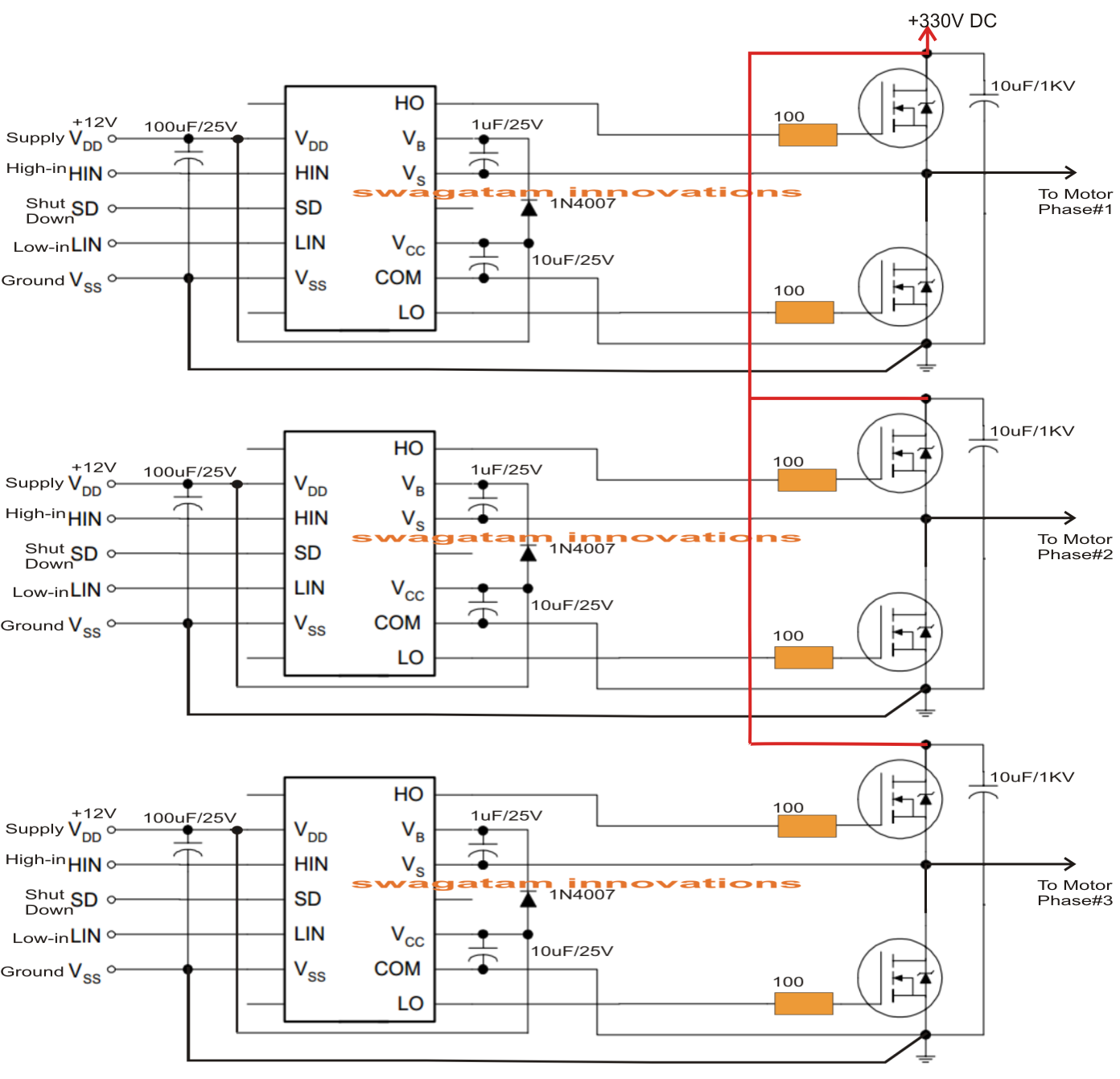 Driving Three Phase Motor On Single on vfd motor control circuits