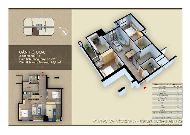 căn hộ c0- 6 chung cư vinata tower