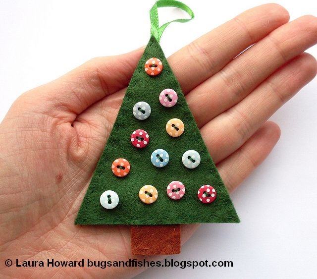 Bugs And Fishes By Lupin How To Sew Easy Felt Christmas Tree Ornaments