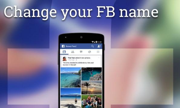 change name on facebook 2017