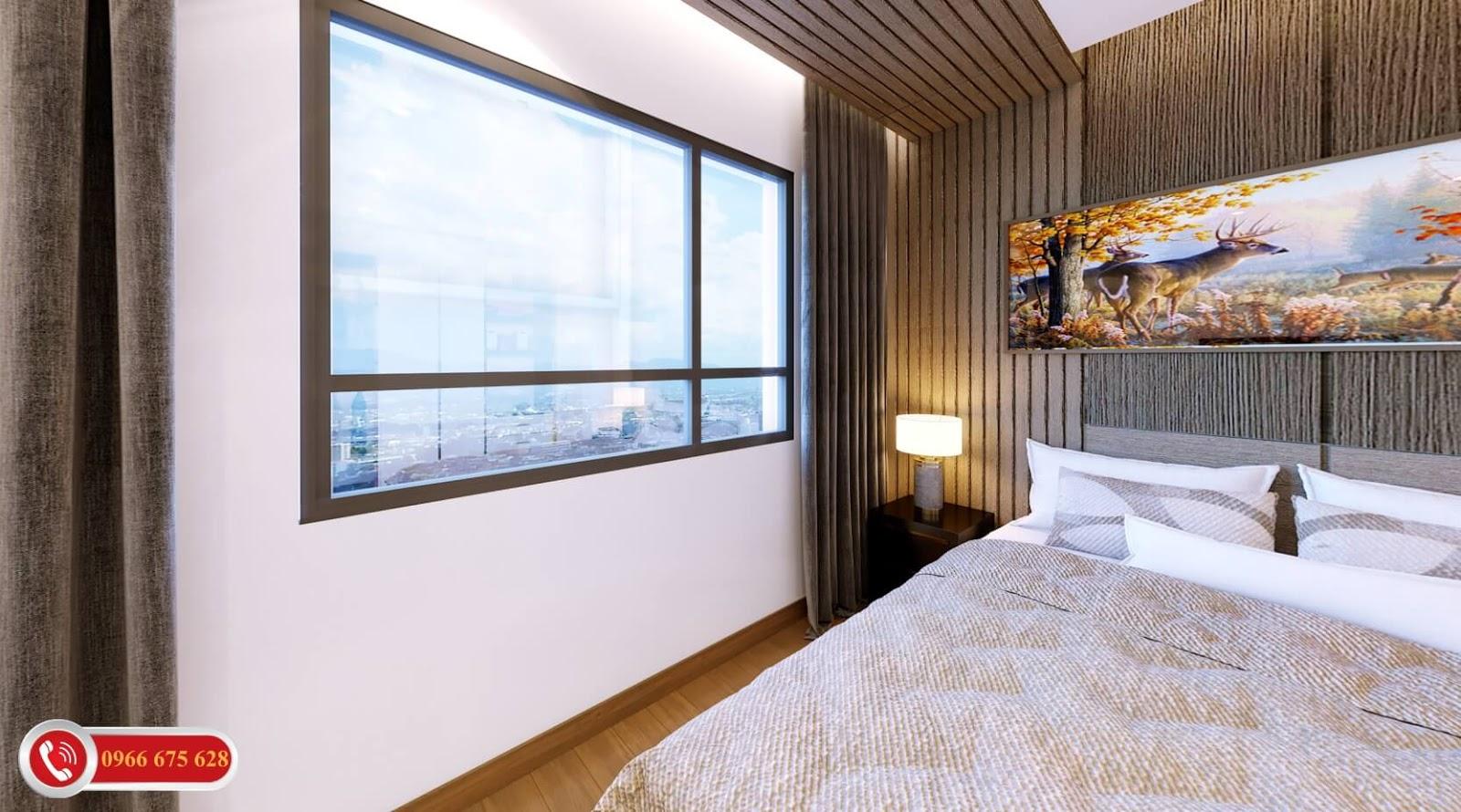 Phòng ngủ cao cấp dự án Amber Riverside 622 Minh Khai