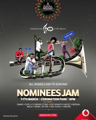 Vodafone Ghana Music Awards Nominees Jam Hits Sunyani On March 11