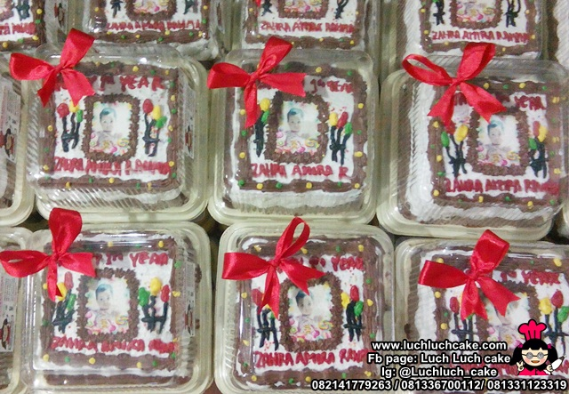 Mini Cake 10cm Hias Edible Foto B'day Girl