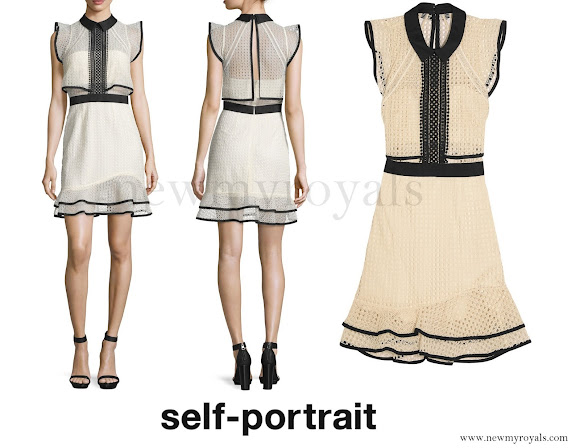 Princess Sofia wore SELF-PORTRAIT Ruffled Broderie Anglaise Organza Mini Dress