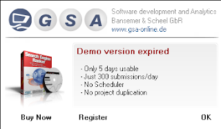 a mengatasi GSA demo version expired