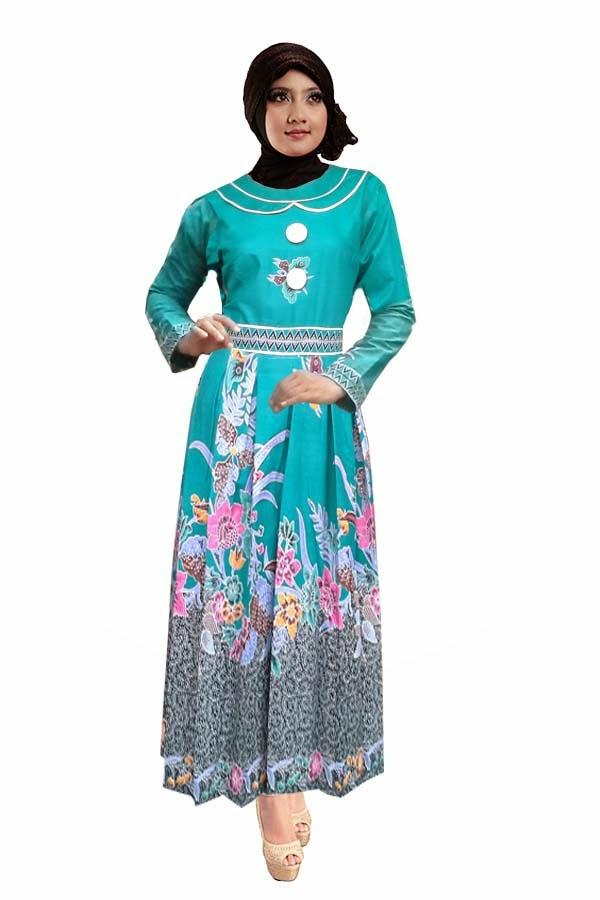 20 Baju Batik Muslim Untuk Kerja Yang Cantik 1000 Model