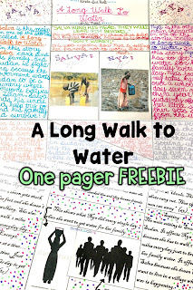 A Long Walk to Water One Pager Assessment