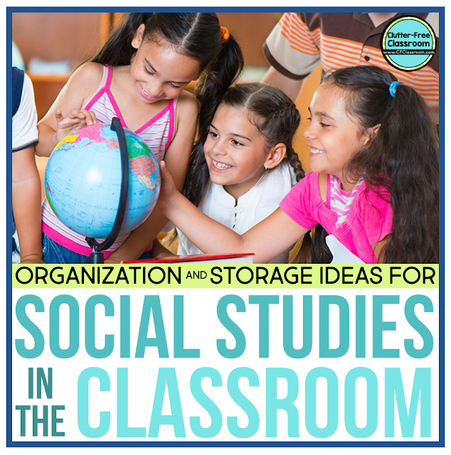 Maps, globes, civics and culture resources, centers and stations... Where can you find the space? I have storage solutions you MUST check out in this blog post.