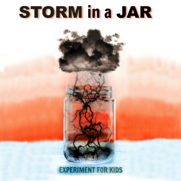 KID SCIENCE:  Make a storm in a jar.  I can't wait to try this!