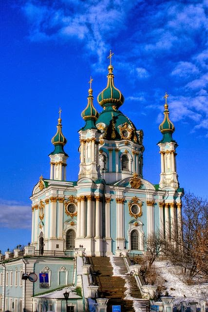 The Church Of Saint Andrew in Kiev, Ukraine.