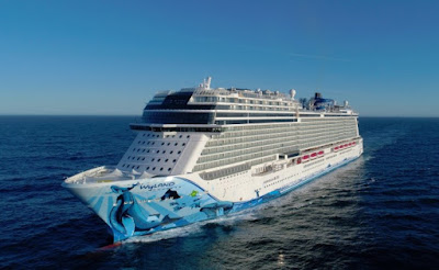 Norwegian Cruise Line's New Norwegian Bliss Delivered From Germany's Meyer Werft Shipyard.