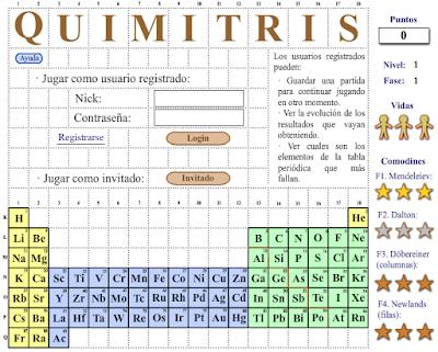 Ayuda para maestros quimitris juego basado en el tetris para quimitris es un juego basado en el tetris para el aprendizaje de la tabla peridica de los elementos de forma entretenida las fichas formadas por uno urtaz Gallery