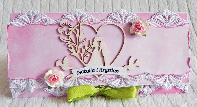 na ślub, kartka ślubna, Galeria Papieru inspiracje, tekturka mąż i żona, kartka sztalugowa, pomysł na prezent ślubny, crafty moly inspiracje