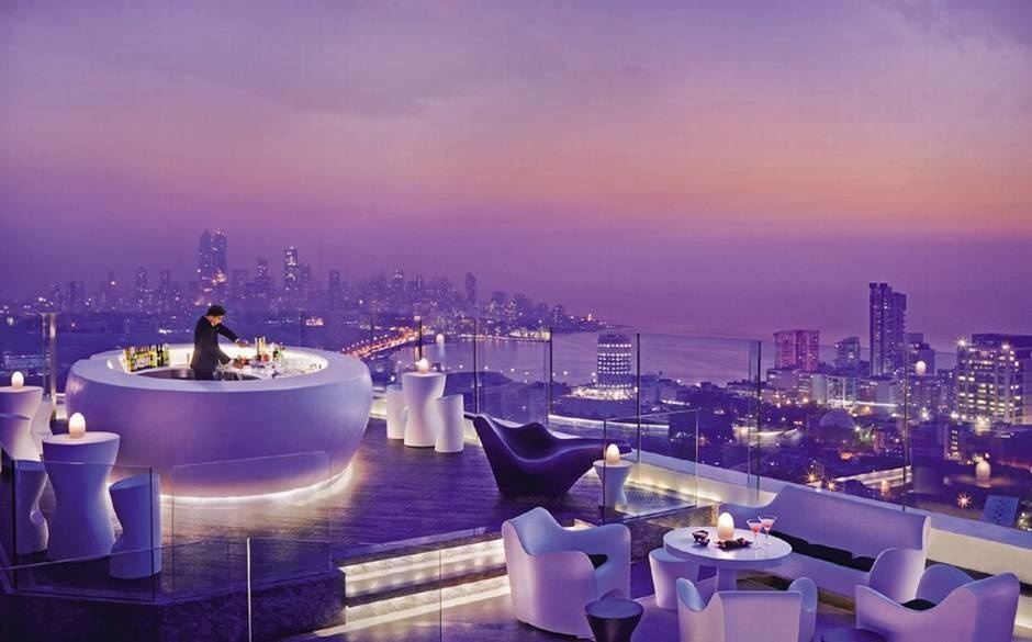 The World's 30 Best Rooftop Bars… Everyone Should Drink At #9 At Least Once. - The Aer takes up the whole rooftop in the Four Seasons in Mumbai, India.