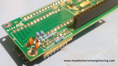 Raduino board with contact debounce mods