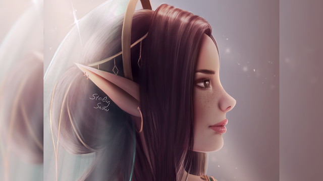 Elf Bride - Digital Painting Art