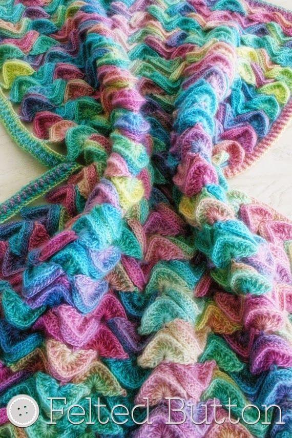 Sea Song Blanket (crochet pattern by Susan Carlson of Felted Button)