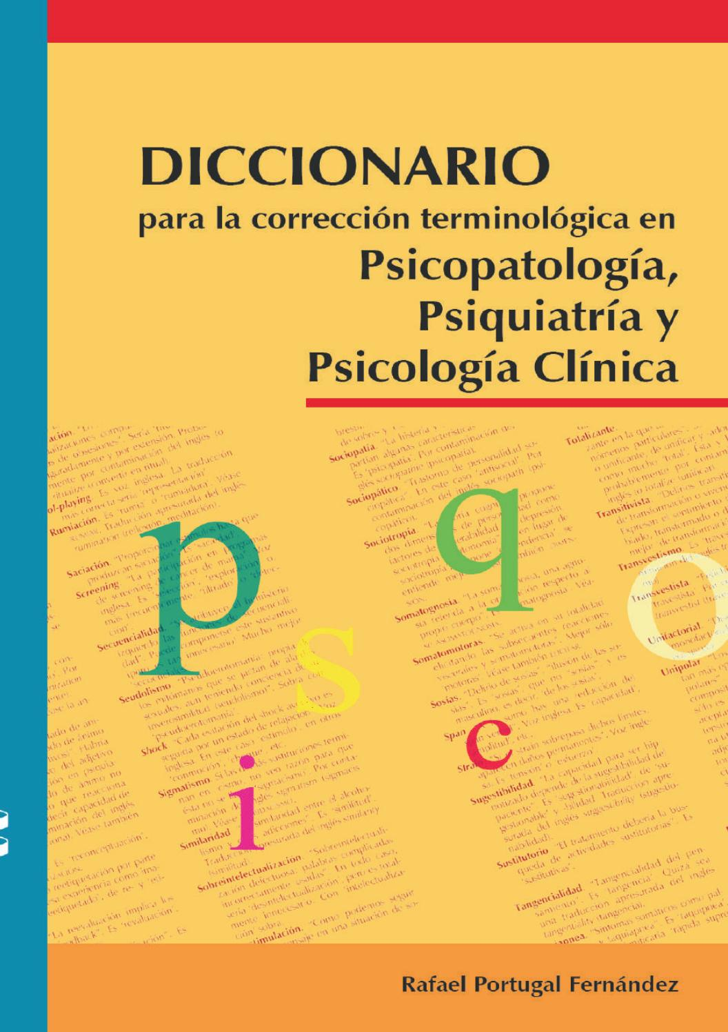 Diccionario para la corrección terminológica – Rafael Portugal Fernández