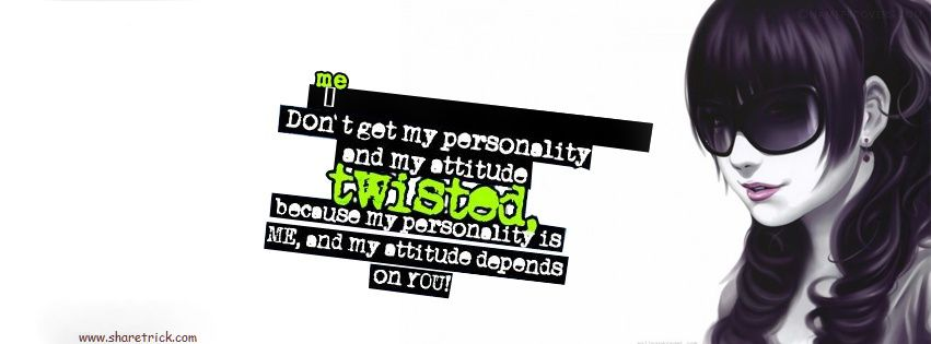 Girls Attitude Facebook Cover Picture is one of the coolest timeline banner photos for girls and their FB accounts plus other Social Profiles