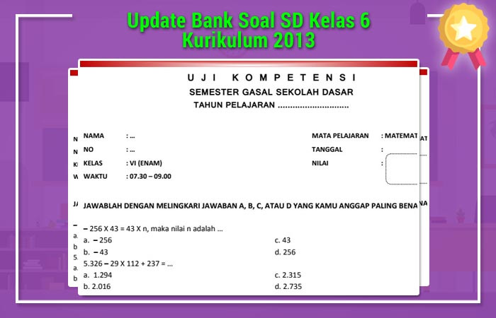 Bank Soal SD Kelas 6