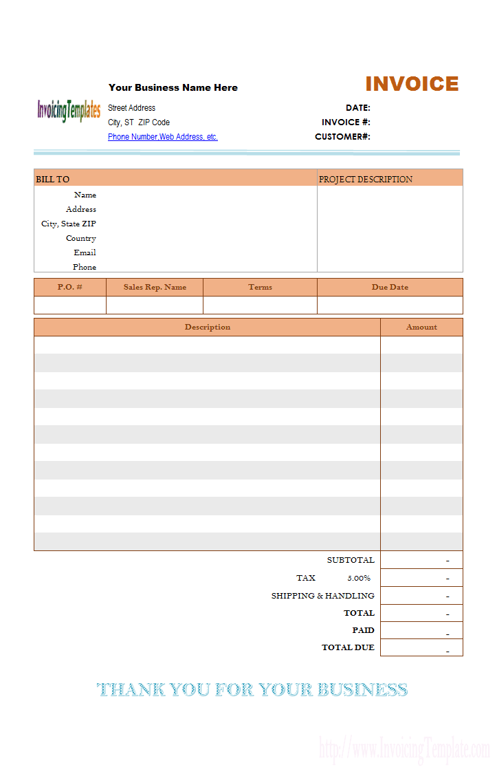 free printable lawn care invoices