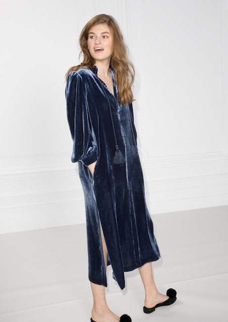 & other stories velvet kaftan