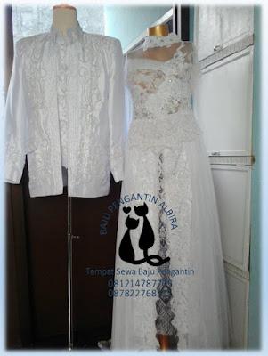 Sewa Kebaya Akad Nikah Couple Bandung Warna Putih