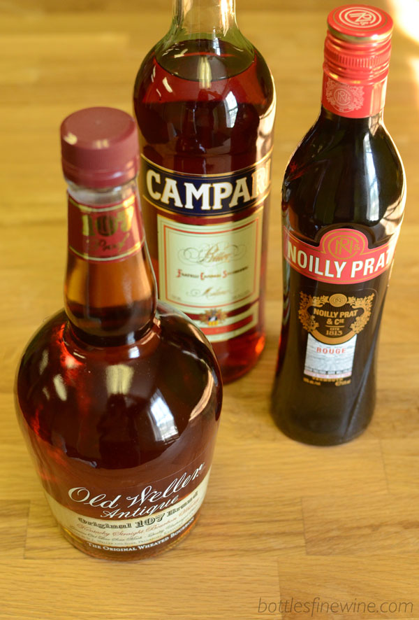 boulevardier drink ingredients | Weller Bourbon |  Campari  |  Sweet Vermouth