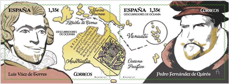 Descubridores de Oceanía. Luis Vaez de Torres, Pedro Fernández de Quirós