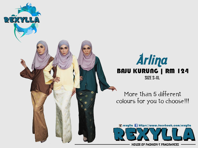 rexylla, baju kurung, arlina collection