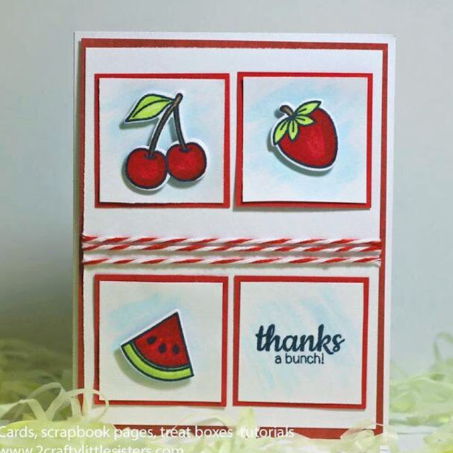 Sunny Studio Stamps: Fresh and Fruity Customer Card Share by 2 Crafty Little Sisters