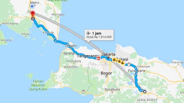 Bus Damri Bandung Lampung