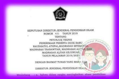 Juknis PPDB 2019 Kemenag (Penerimaan Peserta Didik Baru Madrasah)