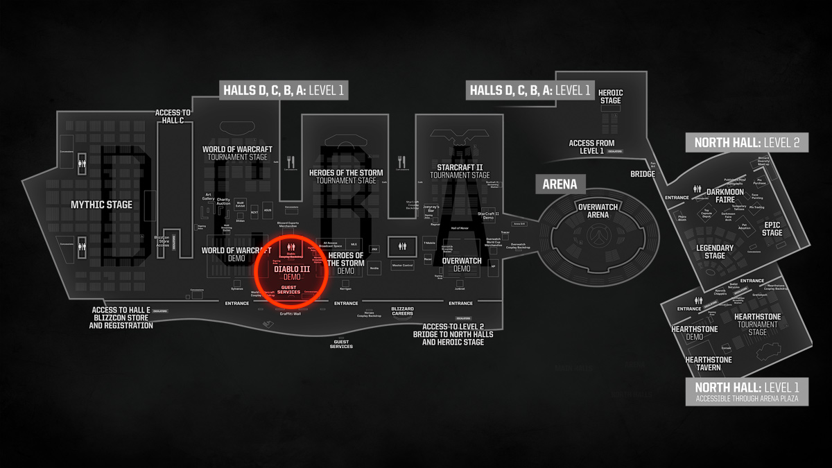 the funny part is they even colored the bathroom part in red the following is 2016 s map where the booth was near the restrooms