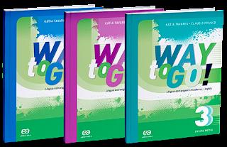LIVRO DE INGLÊS WAY TO GO - PDF - VOLUME 1, 2, e 3.