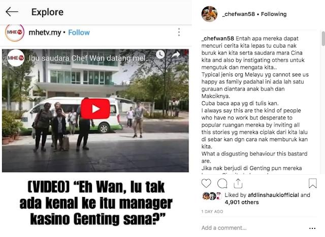 Chef Wan Berang Ada Pihak Tulis Cerita Tentang Keluarga Beliau